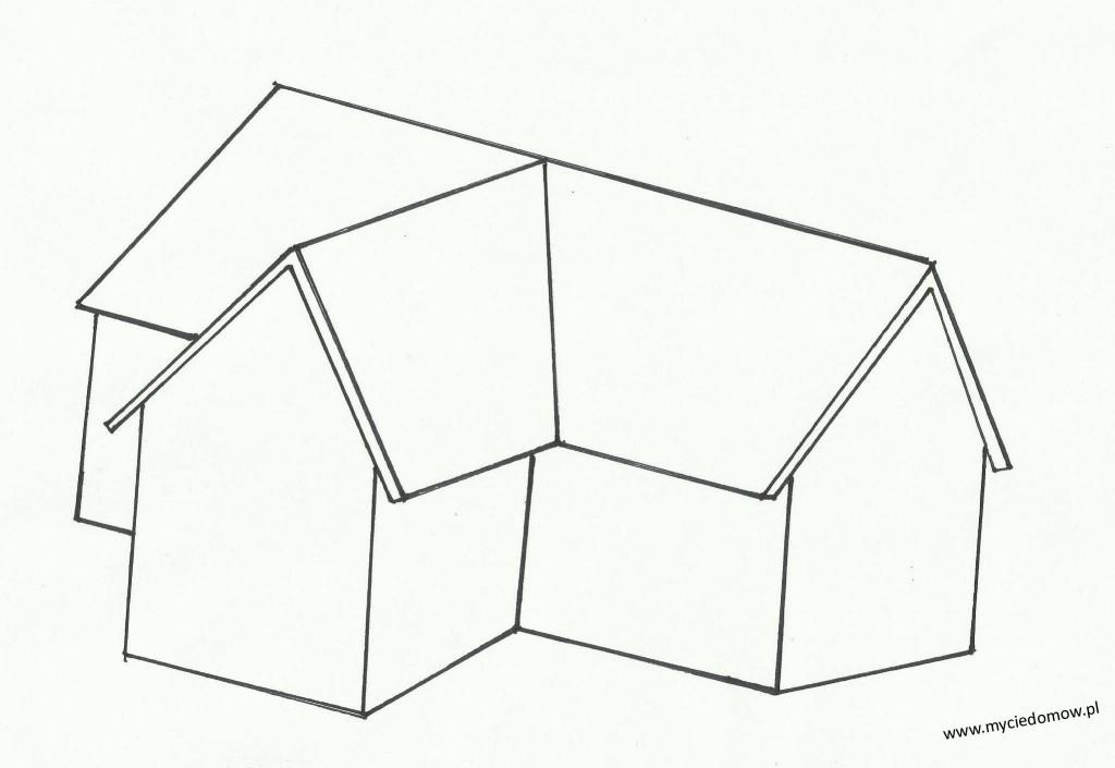 Dach T (w kształcie litery T) www.myciedomow.pl